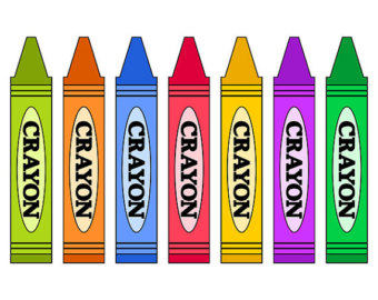Colored Crayons image